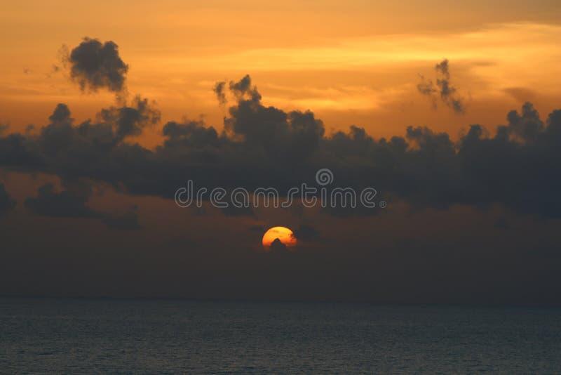 Puesta del sol de Cloudscape foto de archivo libre de regalías