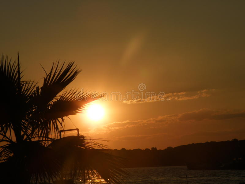 Puesta del sol de Croacia imágenes de archivo libres de regalías