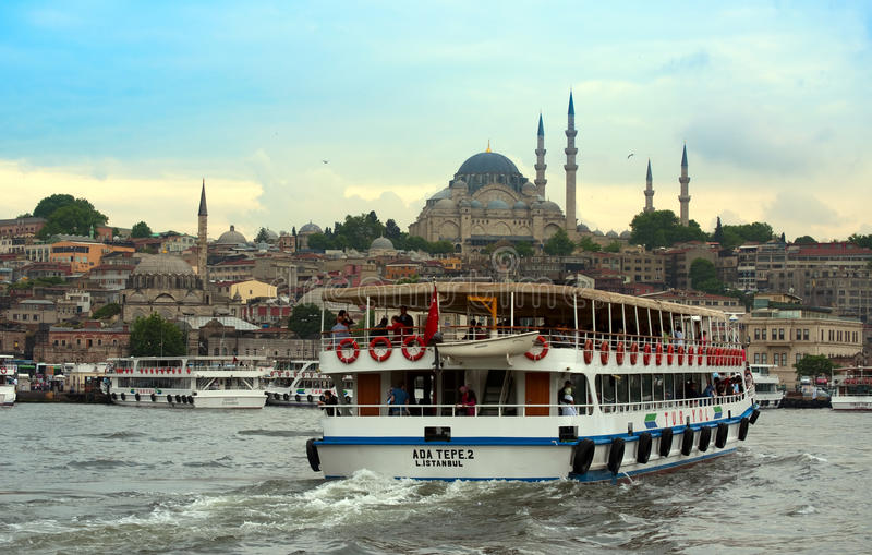 Puesta del sol de Estambul fotografía de archivo libre de regalías