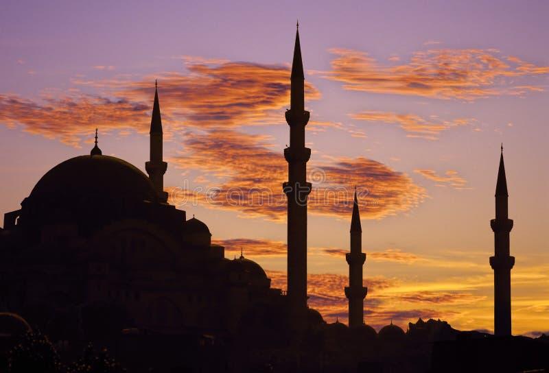 Puesta del sol de Estambul fotos de archivo