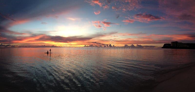 Puesta del sol 4 de Guam foto de archivo libre de regalías
