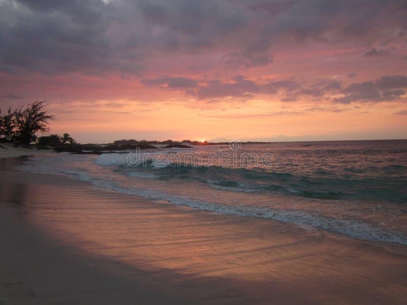 Puesta del sol de Hawaii fotografía de archivo libre de regalías