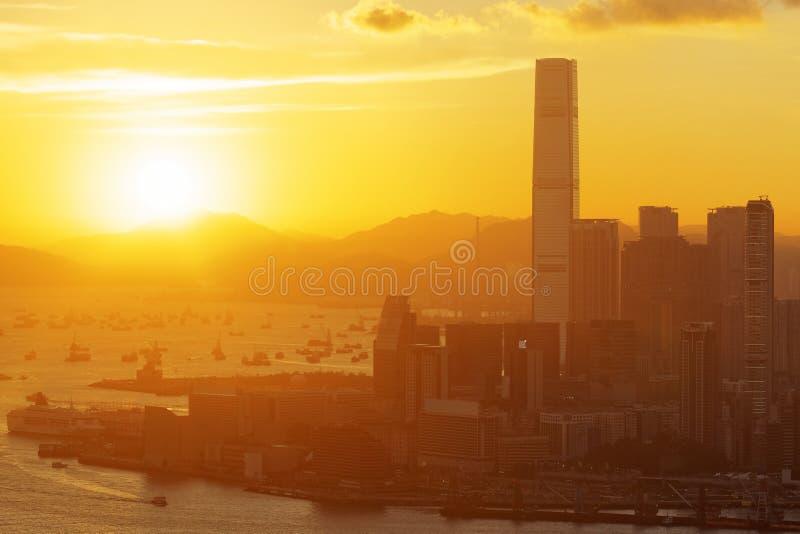 Download Puesta Del Sol De Hong-Kong Foto de archivo - Imagen de holiday, configuración: 41902524