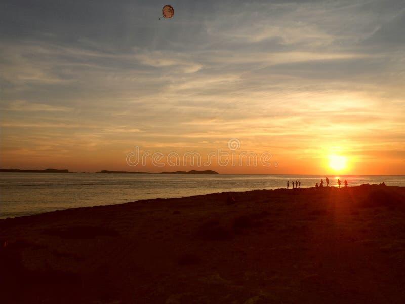 Puesta del sol de Ibiza imagen de archivo libre de regalías