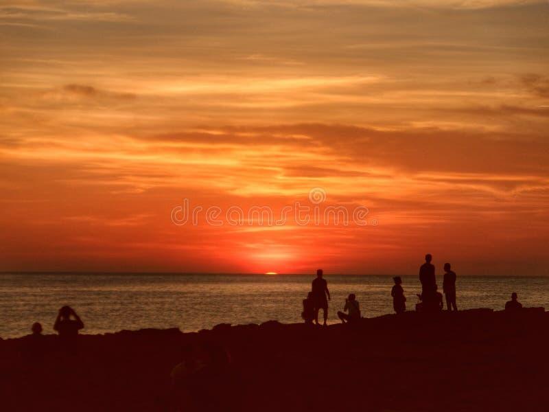 Puesta del sol de Ibiza fotografía de archivo libre de regalías