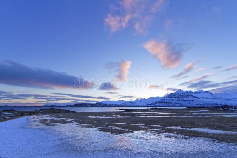 Puesta del sol de Islandia imagen de archivo libre de regalías