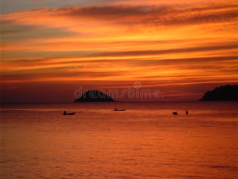 Puesta del sol de Koh Chang imágenes de archivo libres de regalías