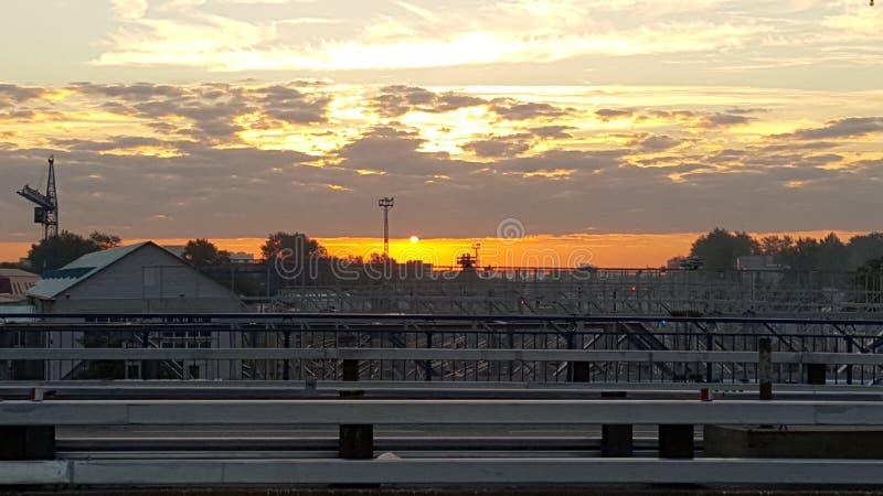Puesta del sol de Koptevo imagenes de archivo