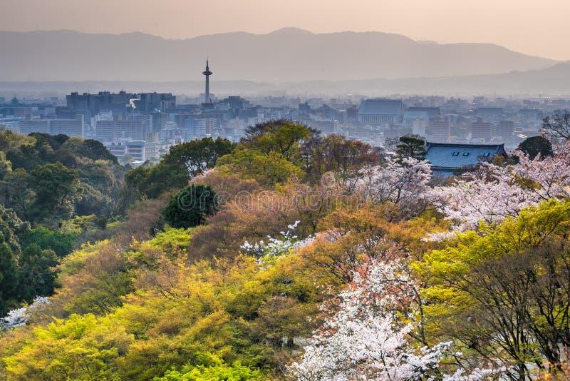 Puesta del sol de Kyoto fotos de archivo libres de regalías