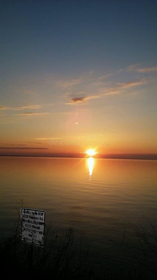 Puesta del sol 5 de la bahía imagen de archivo