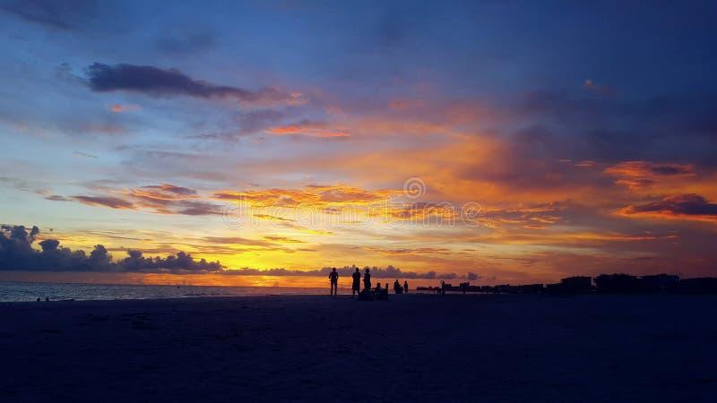 Puesta del sol de la Florida fotografía de archivo libre de regalías
