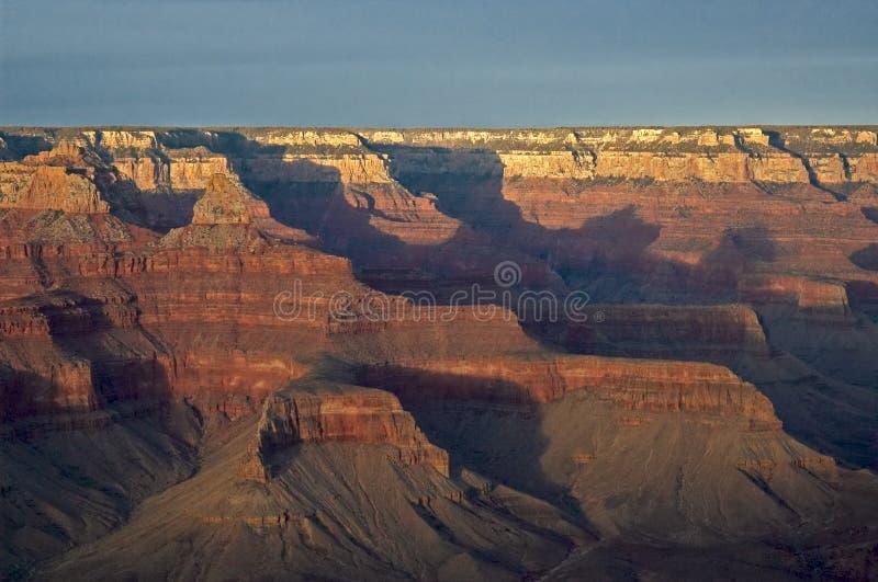 Puesta del sol de la montaña en barranca magnífica foto de archivo