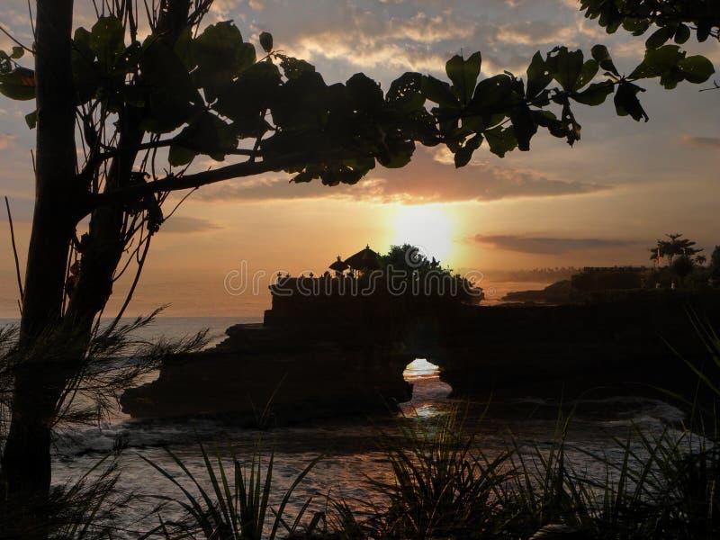 Puesta del sol de la porción de Tanah fotos de archivo libres de regalías