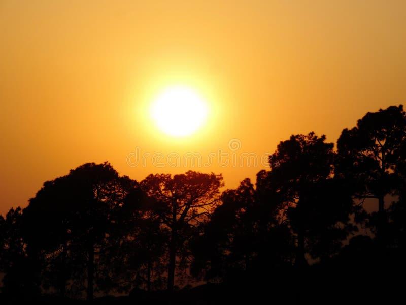 Puesta del sol de la tarde imagen de archivo libre de regalías