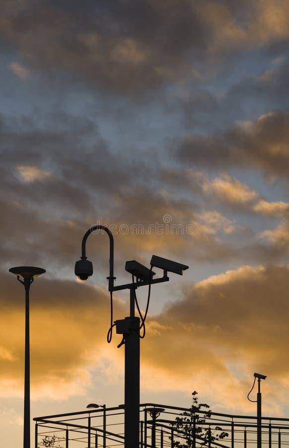 Puesta del sol de la vigilancia foto de archivo libre de regalías