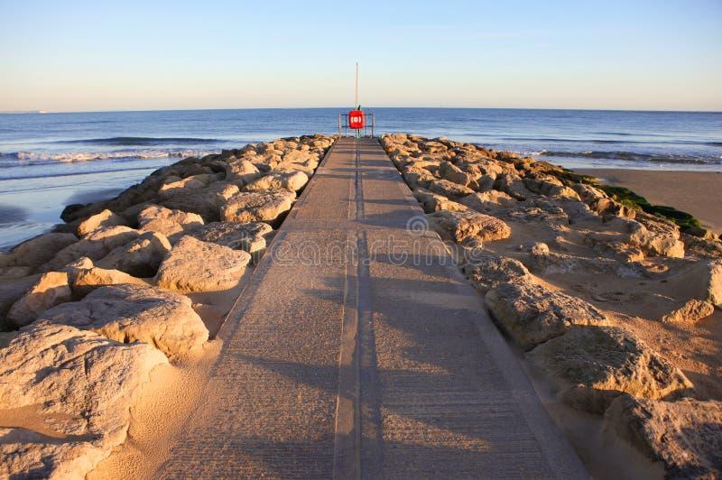 Puesta del sol de los bancos de arena fotografía de archivo libre de regalías