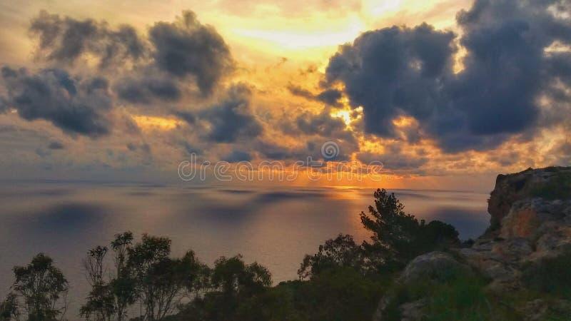 Puesta del sol de Malta fotos de archivo libres de regalías