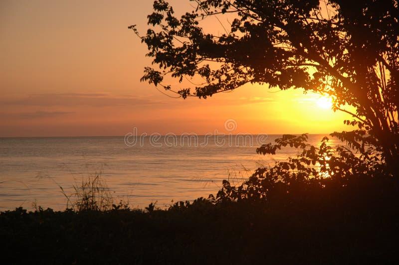 Puesta del sol de Mayagüez imagen de archivo libre de regalías