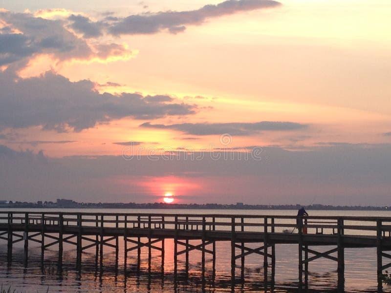 Puesta del sol de Melbourne la Florida cerca: Mariana Horton foto de archivo