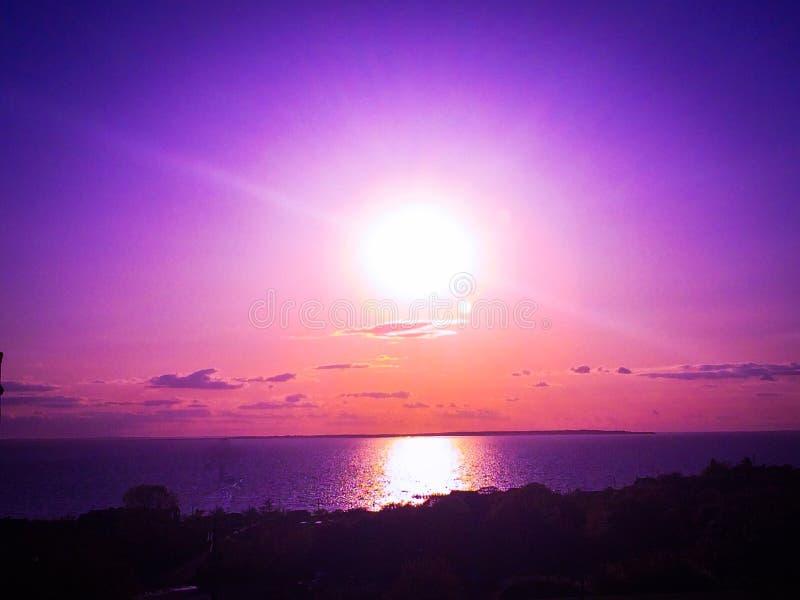 Puesta del sol de Montauk fotografía de archivo libre de regalías