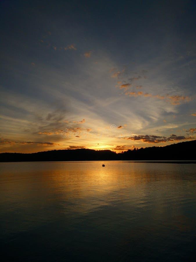 Puesta del sol de Muskoka imagen de archivo libre de regalías