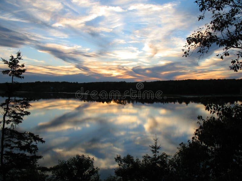 Puesta del sol de Nueva Escocia foto de archivo libre de regalías