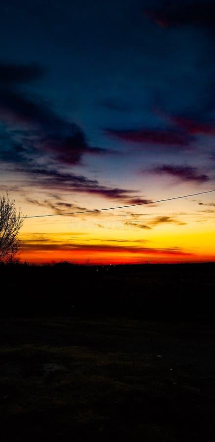 Puesta del sol de Oklahoma fotos de archivo libres de regalías