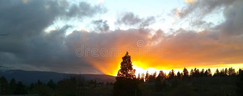 Puesta del sol de Oregon fotos de archivo