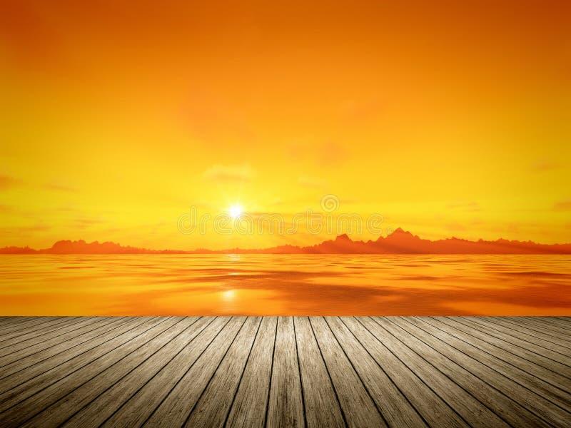 Download Puesta del sol de oro stock de ilustración. Ilustración de mañana - 42436815
