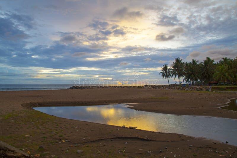 Puesta del sol de Padang fotografía de archivo libre de regalías