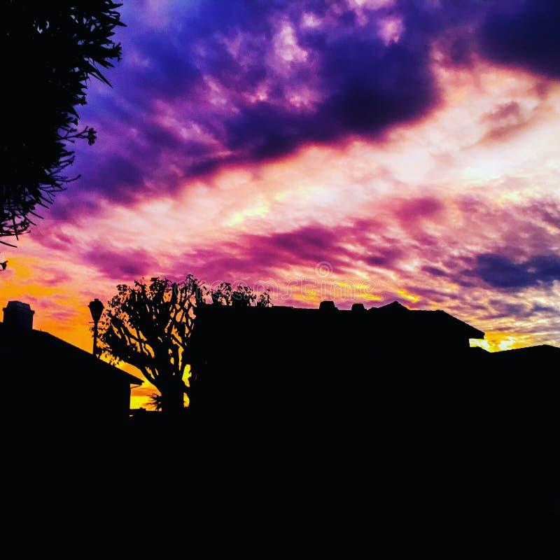 Puesta del sol de Photoshop imagenes de archivo
