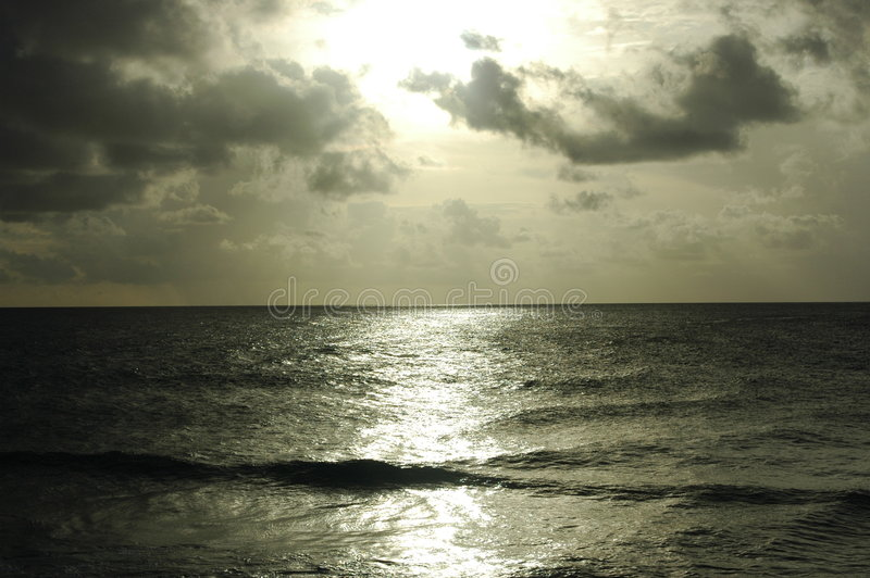 Puesta del sol de Plane_View imagenes de archivo