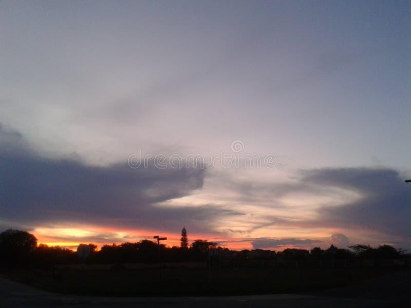 Puesta del sol de Pretoria imagen de archivo