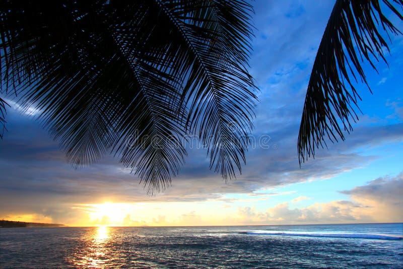 Puesta del sol de Puerto Rico fotografía de archivo