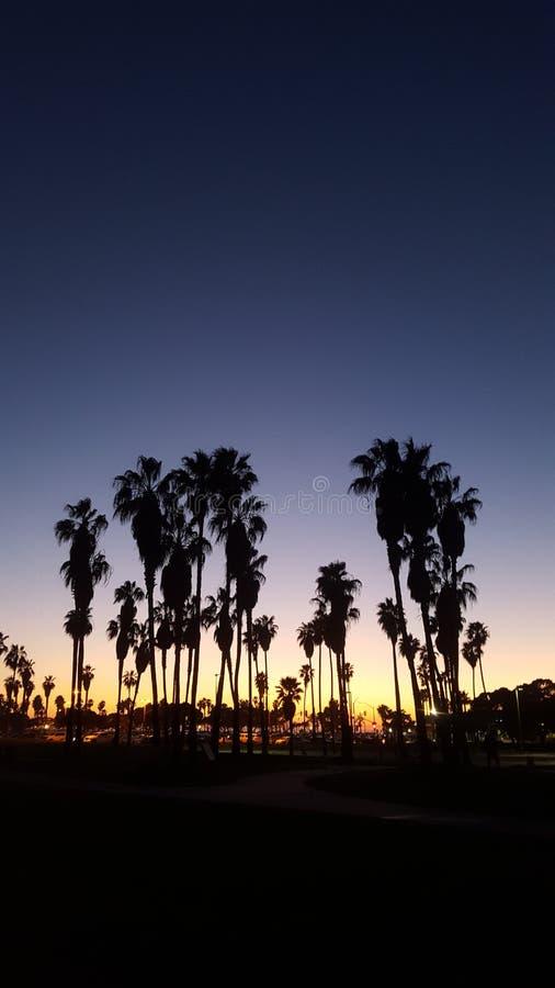 Puesta del sol de San Diego de la bahía de la misión fotografía de archivo libre de regalías