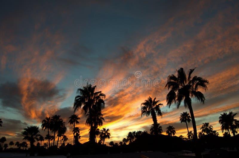 Puesta del sol 2 de Tucson imagenes de archivo