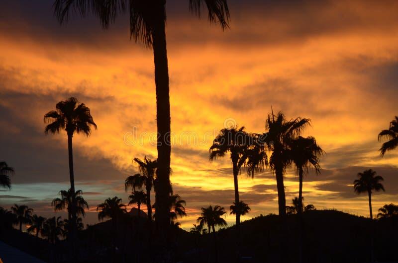 Puesta del sol 3 de Tucson fotos de archivo libres de regalías