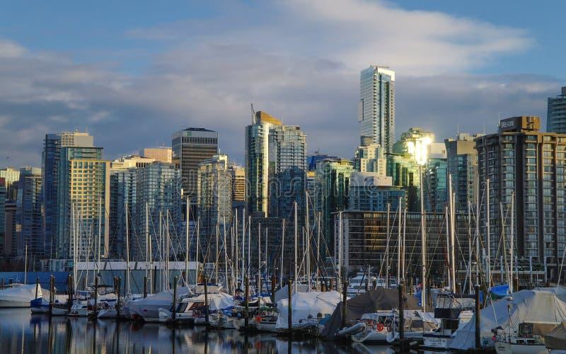 Puesta del sol de Vancouver imágenes de archivo libres de regalías