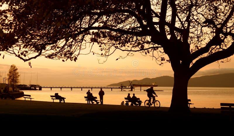 Puesta del sol de Vancouver fotos de archivo libres de regalías
