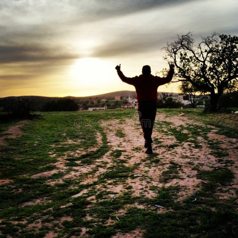 Puesta del sol del cielo nutral fotografía de archivo libre de regalías
