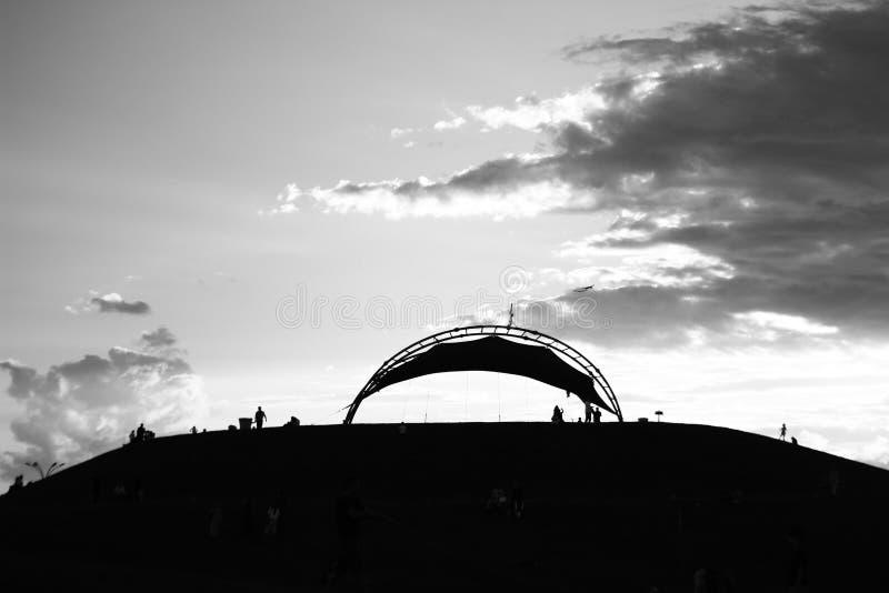Puesta del sol del día de fiesta imágenes de archivo libres de regalías