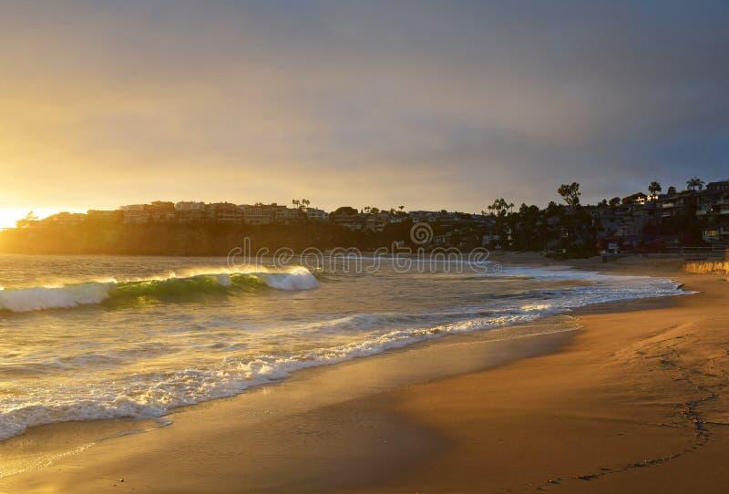 Puesta del sol del Laguna Beach fotos de archivo