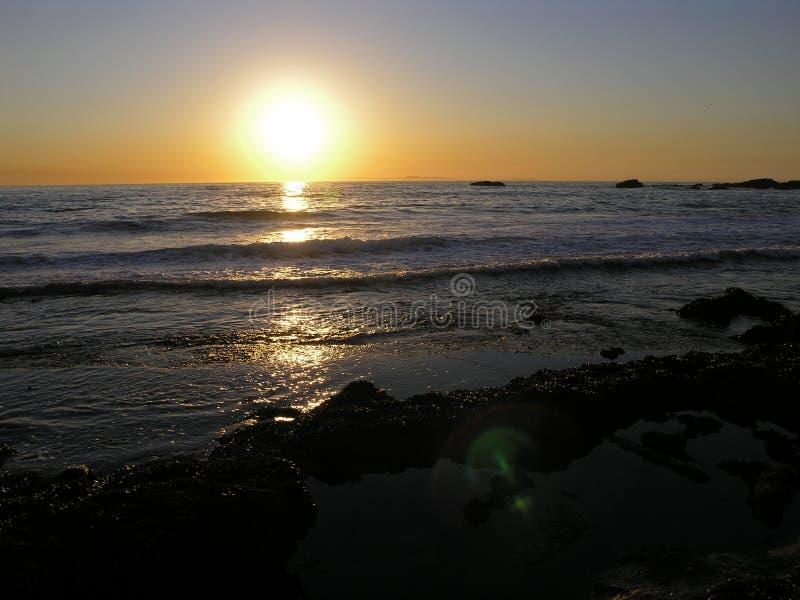 Puesta del sol del Laguna Beach foto de archivo libre de regalías