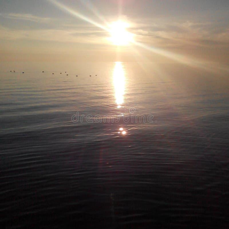 Puesta del sol del Mar Negro imagenes de archivo