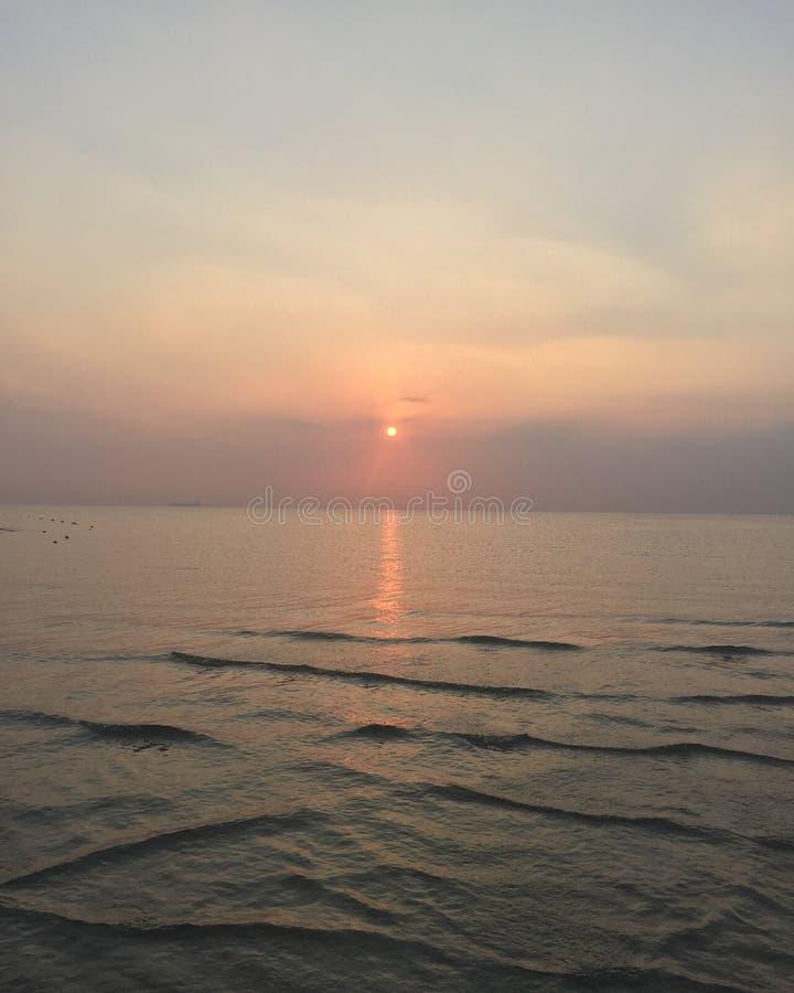 Puesta del sol del Mar Rojo fotos de archivo libres de regalías