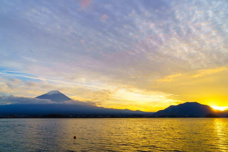 Puesta del sol del monte Fuji, Japón fotos de archivo
