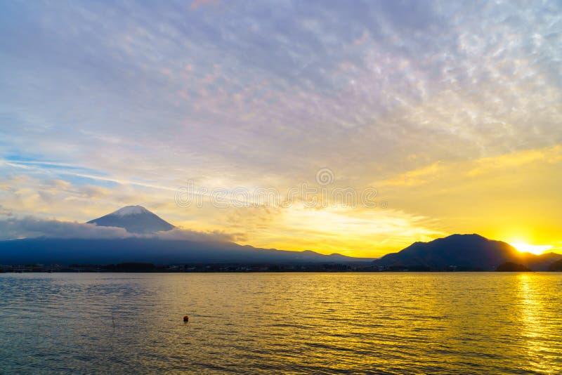 Puesta del sol del monte Fuji, Japón fotografía de archivo libre de regalías