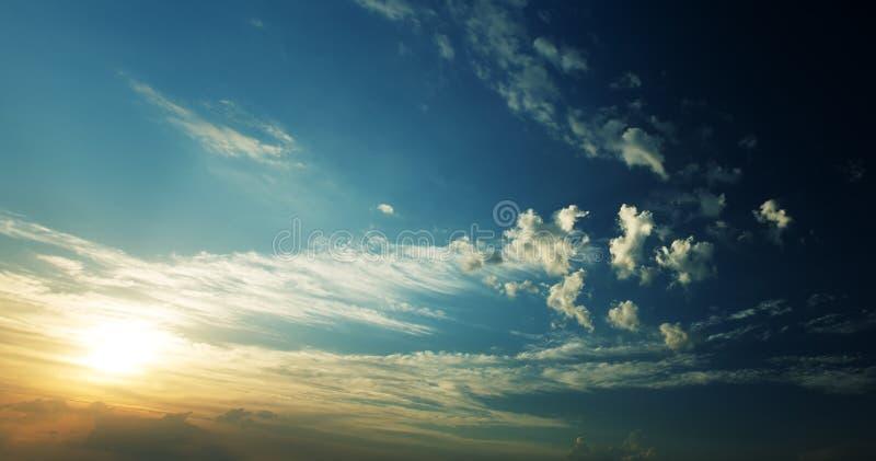 Puesta del sol del panorama fotografía de archivo libre de regalías