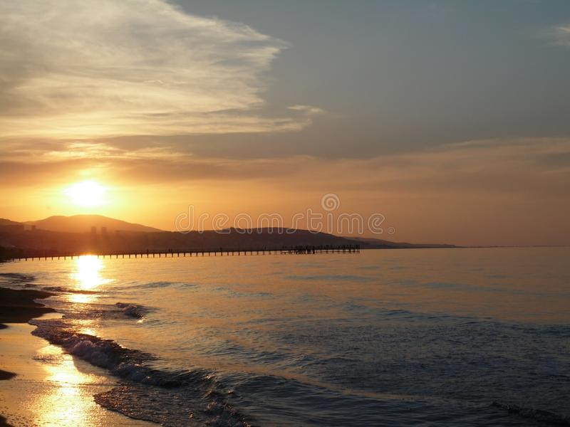 Puesta del sol del pavo imagen de archivo libre de regalías