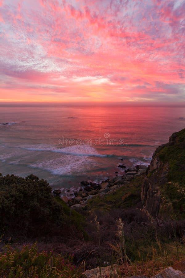 Puesta del sol del pico de Chapmans foto de archivo libre de regalías